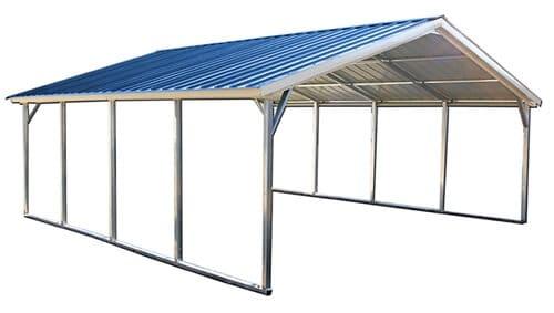 12x20 vertical roof metal carport