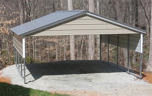 20x20 vertical roof metal carport