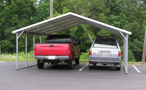 24x20 boxed eave metal carport