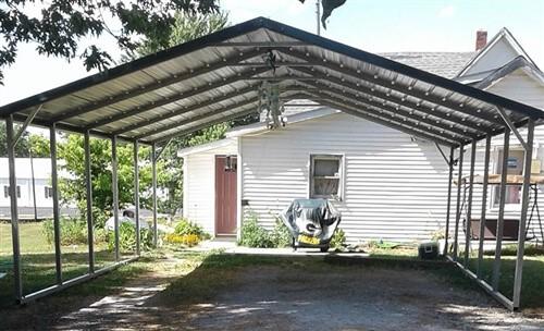24x25 boxed eave metal carport