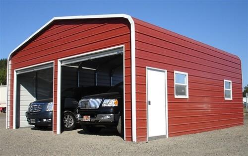 24x30 regular metal garage