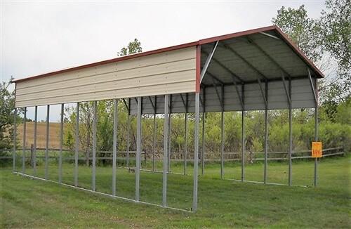 24x50 vertical metal carport