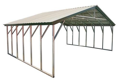 26x35 vertical metal carport