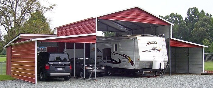 carolina barn metal lean to buildings 42x21