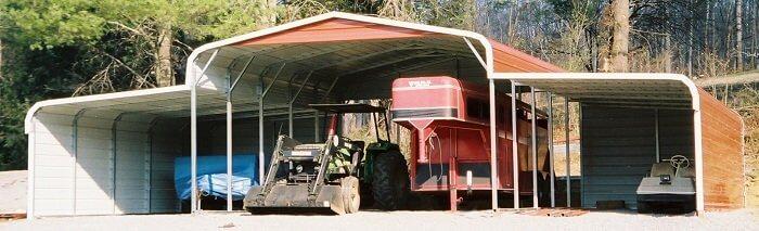 equipment metal carport cover
