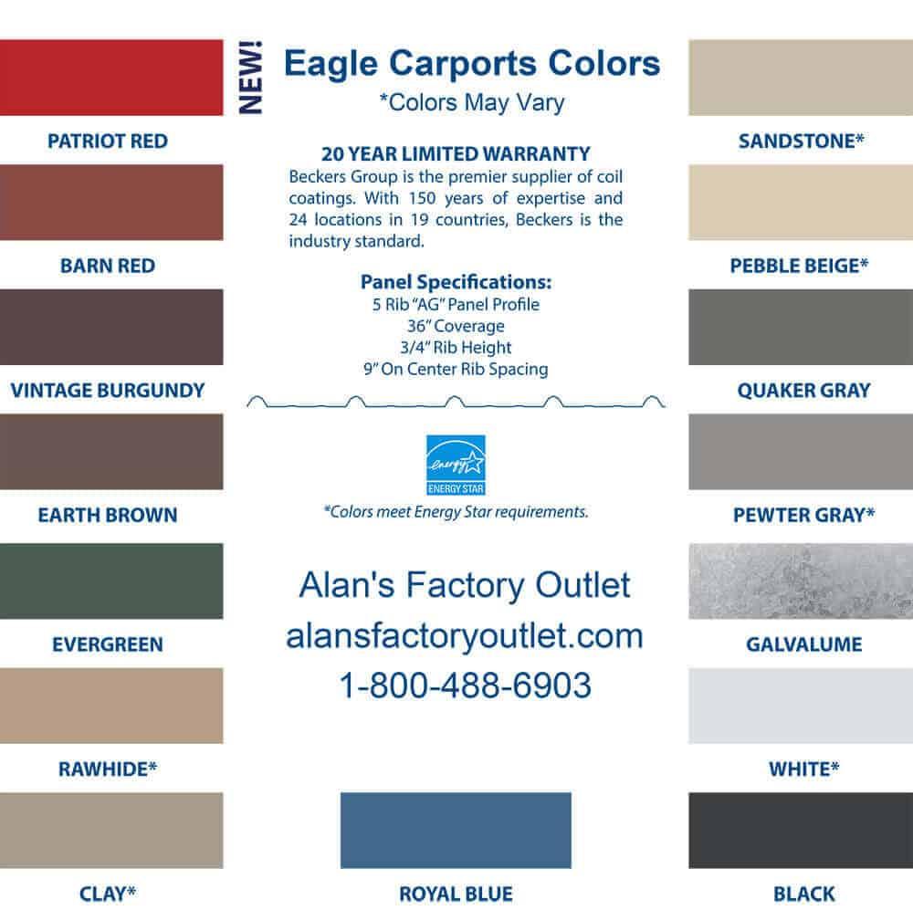 18x20 Regular Carport Alan S Factory Outlet