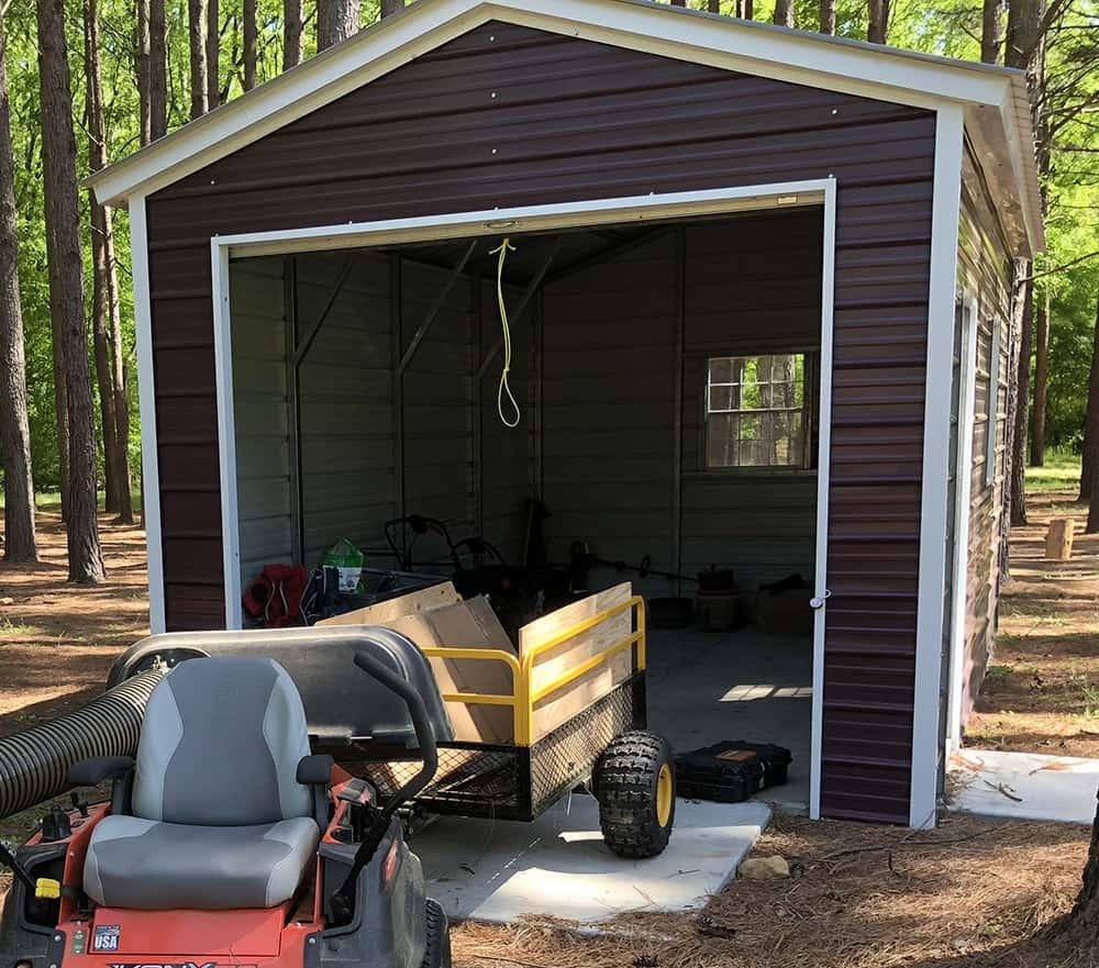 1 car metal garage