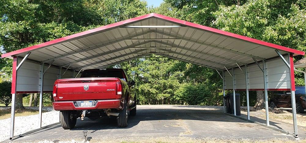 boxed eave steel carport