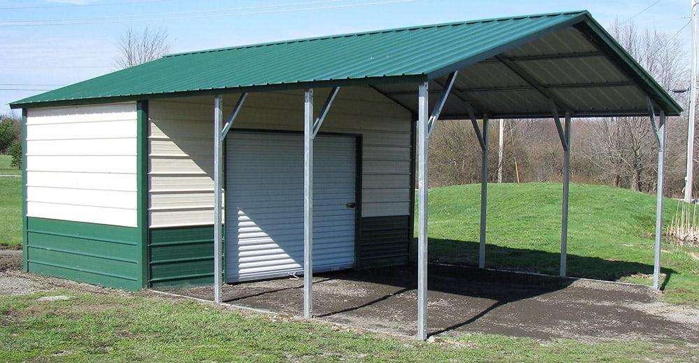 metal utility carport building